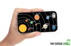 iPhone 4S Case Solar System Planet  / Hard by TheCuriousCaseLLC, $17.99 ; don't have an iphone but this is cute :3