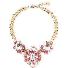 MARINA FOSSATI embellished necklace ($542) found on Polyvore