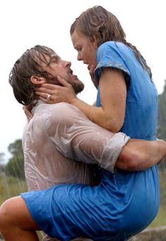 Most memorable movie KISSING. ultimate love story...my favorite all time chick flick. THE NOTEBOOK