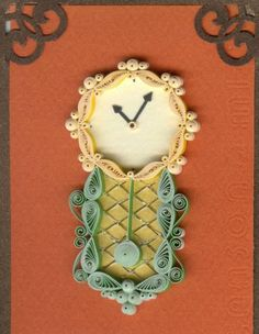 Wall Clock - Quilled Creations Quilling Gallery