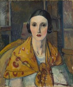 """Frenchwoman: Portrait of a Lady from Honfleur,"" Leon Kroll, oil on canvas, 24 1/8 x 20 1/8"", The Baltimore Museum of Art."