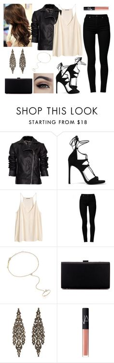 """""""Untitled #272"""" by asgardianka on Polyvore featuring MANGO, Stuart Weitzman, Cheap Monday, Zoë Chicco, Olivia Collings Antique Jewelry and NARS Cosmetics"""
