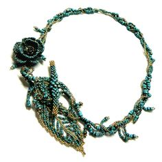My Lovely Beads :: Necklace - Turquoise Leaf