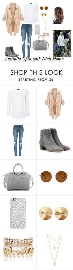"""Australia Open with Niall Horan"" by izmenigarza ❤ liked on Polyvore featuring Joseph, Gianvito Rossi, Givenchy, Forever 21, Felony Case, Eddie Borgo, River Island, women's clothing, women and female"