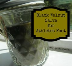 Apply black walnut salve liberally to athlete's foot and blisters | PreparednessMama helps with fungus