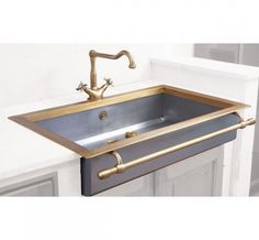 Brass Trimmed Farmhouse Sink