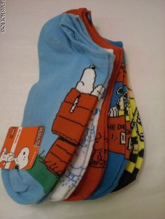Peanuts No Show Socks 9-11 5 pack NWT Snoopy Lucy Charlie Brown Sally Woodstock #Peanuts #NoShow