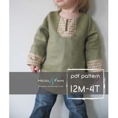 All Day Tunic pattern and tutorial 12M-4T EASY SEW pdf heidiandfinn