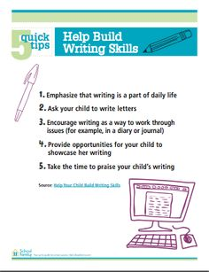 Summer project: 5 Quick Tips that will help your child work on writing skills.