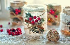 Decoraciones navideñas con listón de yute - Dale Detalles