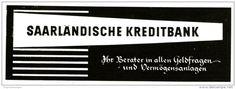 Original-Werbung/ Anzeige 1959 - SAARLÄNDISCHE KREDITBANK - SAARBRÜCKEN  - ca. 155 X 55  mm