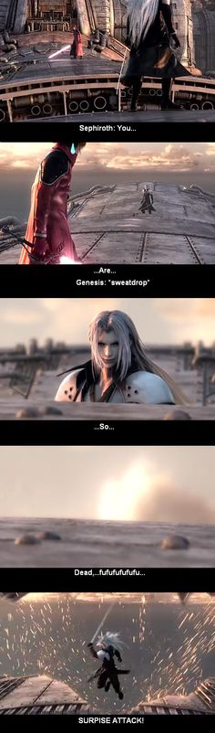Sephiroth n Genesis Showdown Q by sandsoftimes on DeviantArt