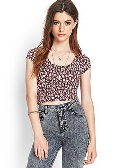 Daisy Print Crop Top | FOREVER21 - 2000102460