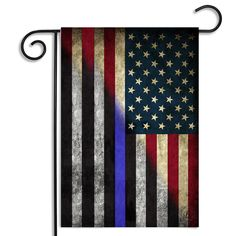 1f3ab4bb855 Red White   Blue American - Thin Blue Line Garden Flag
