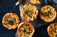 Tender, sweet vegies and creamy mascarpone filling encased in a crisp, cheesy crust make these polenta pastry pies a lunch or dinner not to be missed.