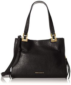 Vince Camuto Adela Satchel Shoulder Bag Black One Size Gt