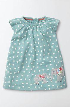 Main Image - Mini Boden Summer Appliqué Dress (Baby Girls & Toddler Girls)