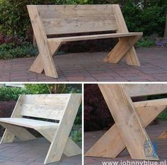 Thanks for this post.Tuinbank Cross Diese Gartenbank aus unserer eigenen Kollektion ist ein echter Hi.Tuinbank Cross This garden bench from our own collection is a real eye-catcher. And To the corner posts, use the angle iro# bench Woodworking Projects Diy, Woodworking Furniture, Diy Wood Projects, Furniture Projects, Furniture Plans, Garden Furniture, Wood Furniture, Woodworking Plans, Wood Crafts