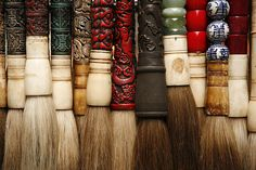 Chinese calligraphy brushes