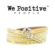 Bracciale We Positive giallo HD002 Bracciali We Positive W+ GioielliVarlotta