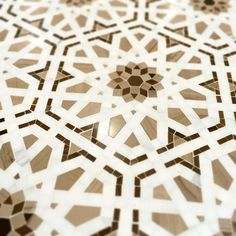 Detail of the Villa d'Oro Granada Pattern shows the intricate level of craftsmanship involved in creating this artisan mosaic..