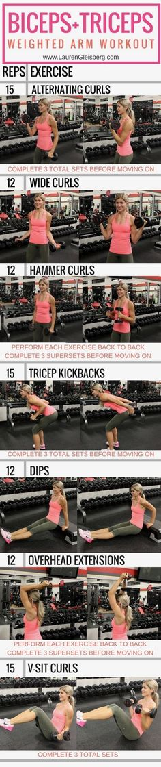 BICEPS + TRICEPS WORKOUT