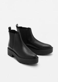 Ботинки с эластичными вставками | MANGO МАНГО