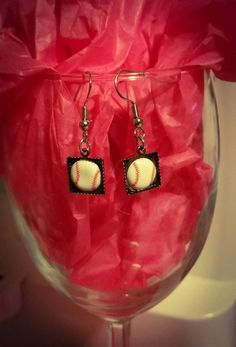 Check out this item in my Etsy shop https://www.etsy.com/listing/269171646/baseball-dangle-earrings