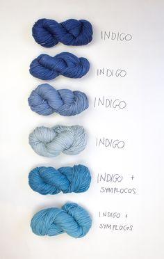 Natural indigo dyed yarn by Belinda Evans | Alchemy