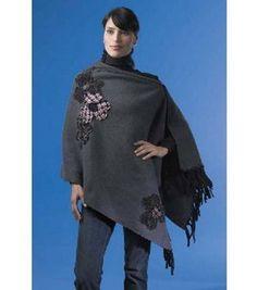 fleece + poncho = warm & toasty