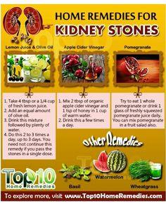 Kidney stone remedies