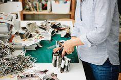 Strisce di carta di un catalogo IKEA pinzate insieme - IKEA