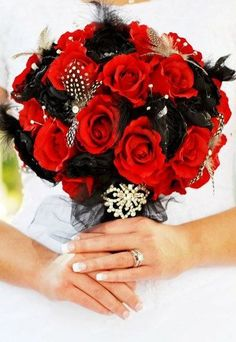Simply Shani: Red and black December wedding