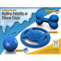 Keep your best friend happy for hours with this dog toy set from Hydro Bone. Not only do these toys keep your pooch busy and happy, but they can be soaked in water to keep your dog hydrated as it chews. The set is perfect for multiple dogs. Dog Games, Dog Beach, Cat Toys, Cool Cats, Fur Babies, Pet Supplies, Pets, Freeze, Fun