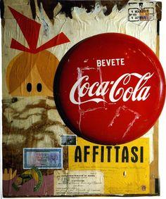 1961 Mimmo Rotella, Coca-Cola, Pop Art. @deFharo