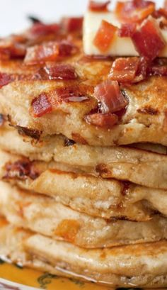 Maple Bacon Pancakes: The best pancakes ever! I used coconut oil instead of applesauce bc I was out.