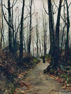 All sizes   Julius Sergius von Klever - private collection. Дама, идущая по дороге к усадьбе (1887)   Flickr - Photo Sharing!