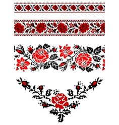 SMALL PATTERN - Ukrainian embroidery ornament vector