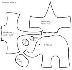 Las chorradikas de Laury: patrón elefante de tela                                                                                                                                                                                 Más
