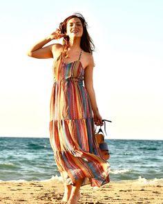 Wrap Dress, Bohemian, Summer Dresses, Instagram, Style, Fashion, Swag, Moda, Summer Sundresses