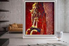 Nude Art Acrylic painting Canvas Artwork Nude painting image 0 Colorful Artwork, Colorful Paintings, Your Paintings, Original Paintings, Large Painting, Acrylic Painting Canvas, Canvas Artwork, Modern Wall Decor, Modern Art