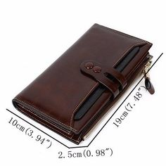 Women Elegant Genuine Leather Long Wallet Card Bag Ladies Vintage Casual Wallet Purse sales at a good price. Come to Newchic to buy a wallet, more cheap women wallets are provided online. Handmade Leather Wallet, Leather Gifts, Leather Pouch, Leather Purses, Leather Bag Pattern, Wallets For Women Leather, Womens Purses, Long Wallet, Purse Wallet