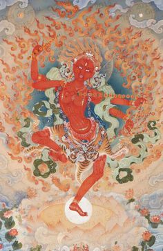 Also known as Red Tara, Kurukulle is principally associated with the enlightened activity of magnetizing. She is invoked to increase wisdom and to gather the conditions necessary to practice the Dharma. This is one aspect of Tara, a protector! .. http://taradigesu.com/gallery/kurukulle/?portfolioID=148