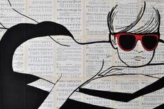 "Saatchi Art Artist Martina Niederhauser-Landtwing; Painting, ""sundance"" #art"