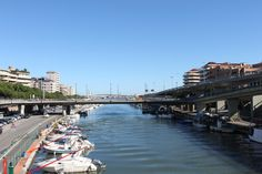 a harbour in Pescara, Italy