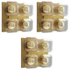 Set of Three Glashütte Limburg Wall Lights   See more antique and modern Wall Lights and Sconces at https://www.1stdibs.com/furniture/lighting/sconces-wall-lights