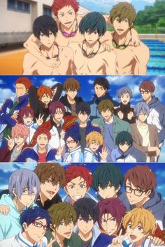 Yuzz just add more and more boys lol Free Eternal Summer, Manga Anime, Anime Art, I Love Anime, All Anime, Male Character, Tamako Love Story, Swimming Anime, Splash Free
