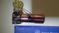 (FOR MY DAD)3/4  x 3 copper kaleidoscope by SUNARTSTAINEDGLASS on Etsy
