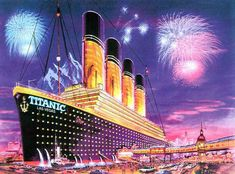 A proposed idea for a hotel/casino in Las Vegas based on the design of Titanic. Las Vegas Hotels, Las Vegas City, Lost Vegas, Las Vegas Outfit, Photo Vintage, Vegas Style, Retro Images, Casino Theme, Belle Photo