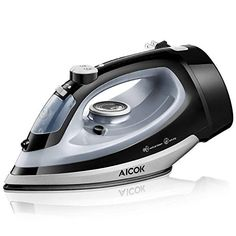Buy AICOK Steam Iron Professional Garment Steamer with Retractable Cord, Variable Temperature and Steam Control, Non-Stick Soleplate Full Function Press Iron, Black Punk Decor, Steam Bending Wood, C Videos, How To Iron Clothes, Steam Iron, Steam Cleaners, Variables, Water Tank, Proposal
